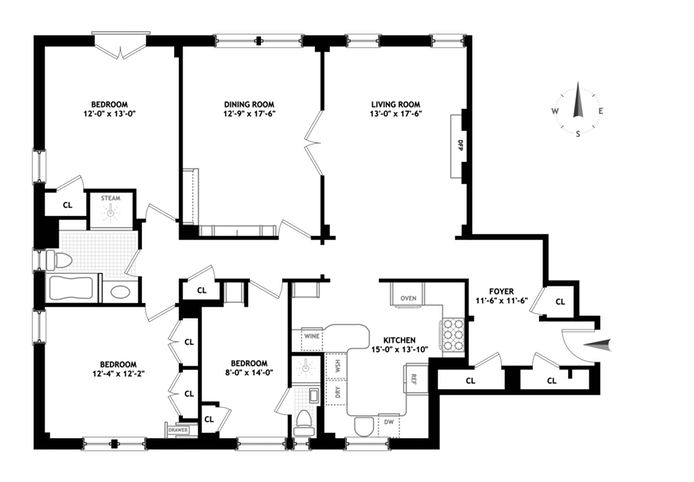 895 West End Avenue, Upper West Side, NYC, $2,500,000, Web #: 14347789