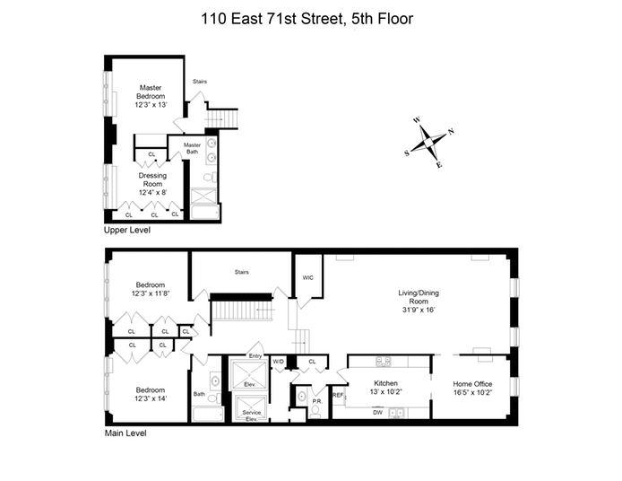110 East 71st Street, Upper East Side, NYC, $3,550,000, Web #: 14407635