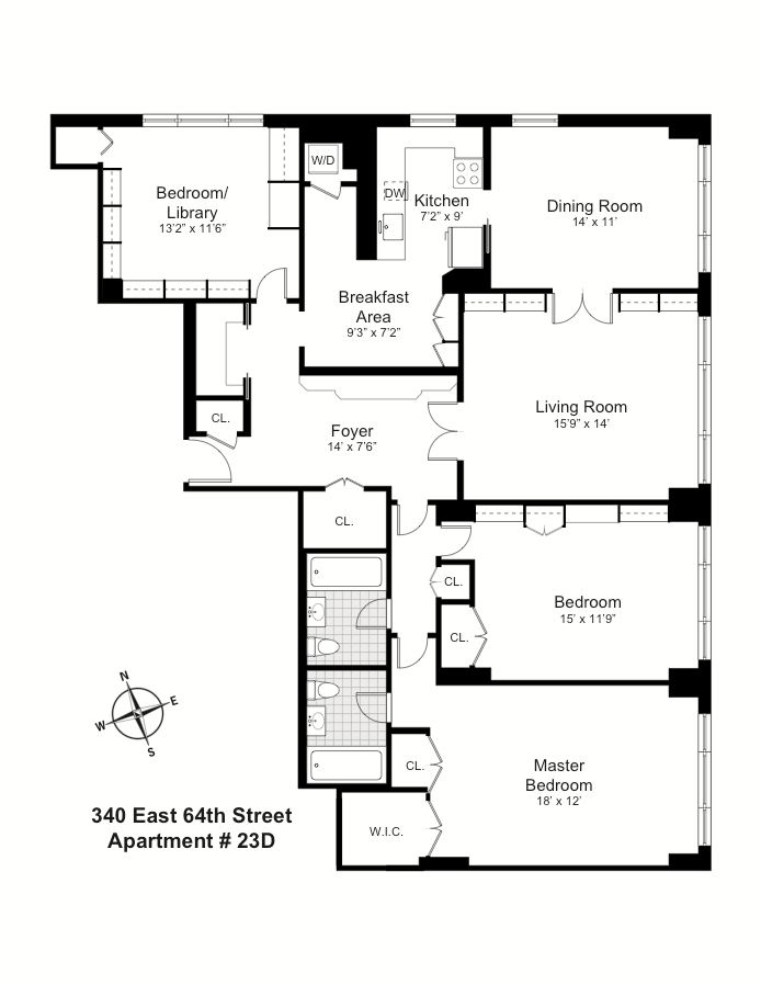 340 East 64th Street, Upper East Side, NYC, $2,050,000, Web #: 14414125