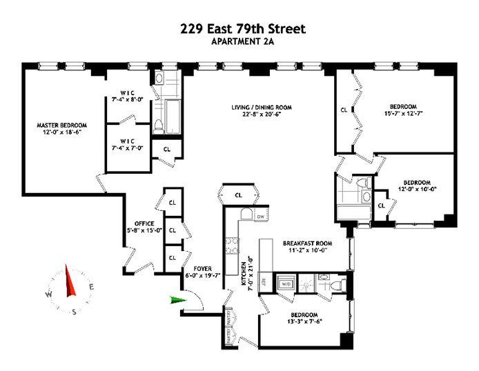 229 East 79th Street, Upper East Side, NYC, $2,850,000, Web #: 14429236