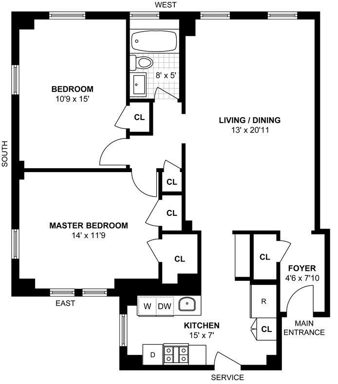 878 West End Avenue, Upper West Side, NYC, $1,199,000, Web #: 14447295