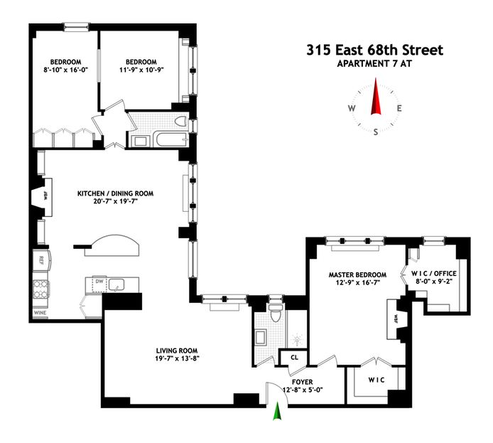 315 East 68th Street, Upper East Side, NYC, $2,172,000, Web #: 14478156