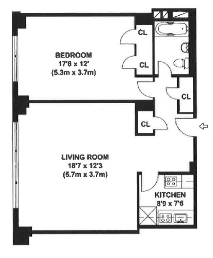 Central Park South, Midtown West, NYC, $4,200, Web #: 14484252