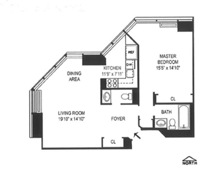 150 West 56th Street 3907, Midtown West, NYC, $3,600, Web #: 14485288