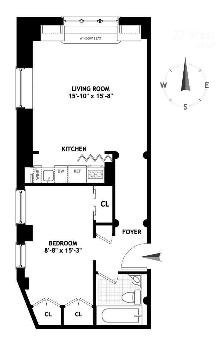 27 West 67th Street, Upper West Side, NYC, $810,000, Web #: 14510284