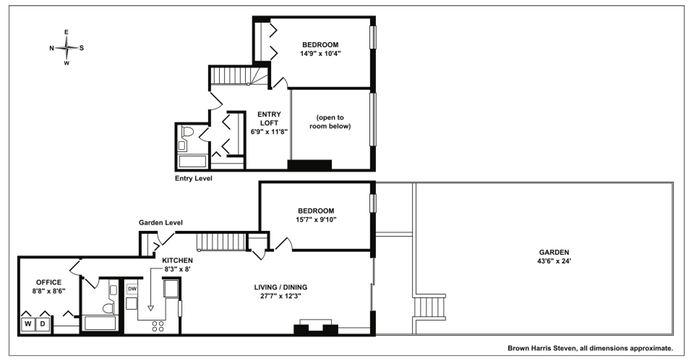 434 West 23rd Street, Greenwich Village/Chelsea, NYC, $1,850,000, Web #: 14575871