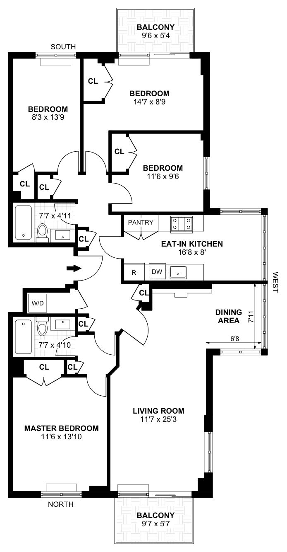 366 West 11th Street, West Village, NYC, $2,625,000, Web #: 14725963