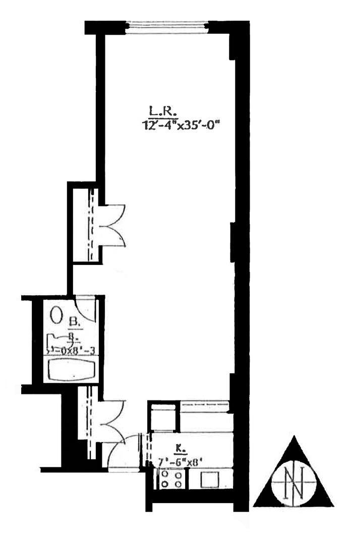 222 West 14th Street, Greenwich Village/Chelsea, NYC, $3,250, Web #: 14730493
