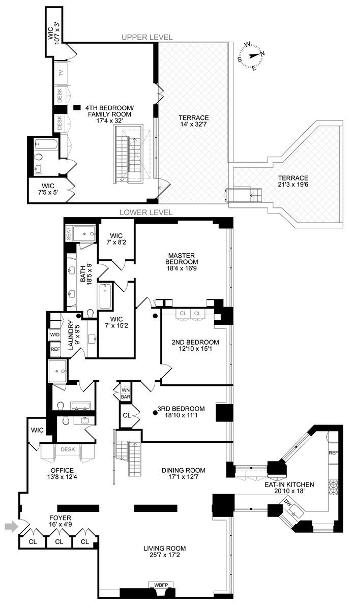 345 West 13th Street PH6a, West Village, NYC, $12,500,000, Web #: 14741331