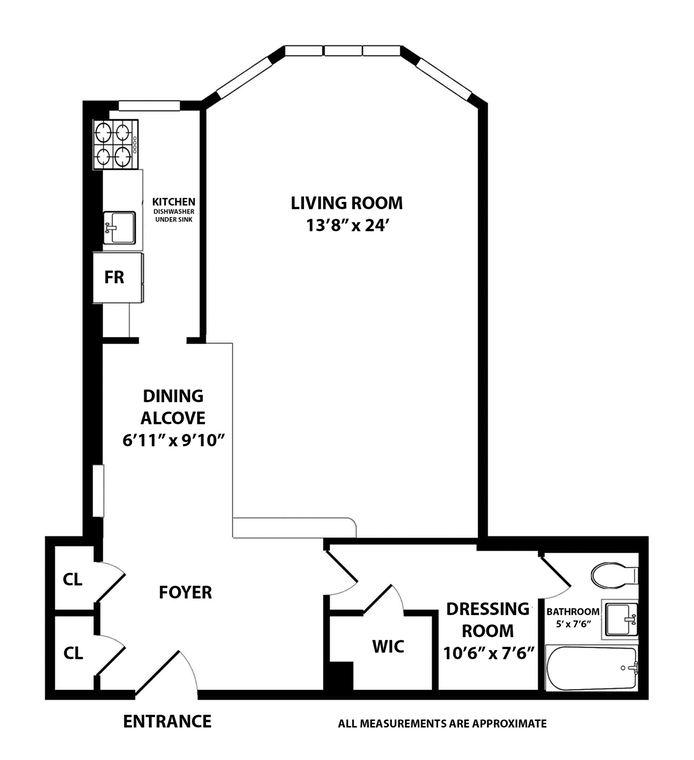 333 West 57th Street, Midtown West, NYC, $746,000, Web #: 14840808