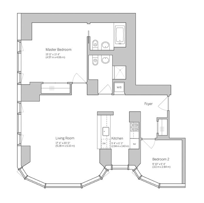 50 United Nations Plaza, Midtown East, NYC, $6,950, Web #: 14846652