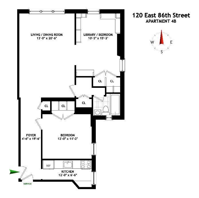 120 East 86th Street, Upper East Side, NYC, $1,038,000, Web #: 14947420