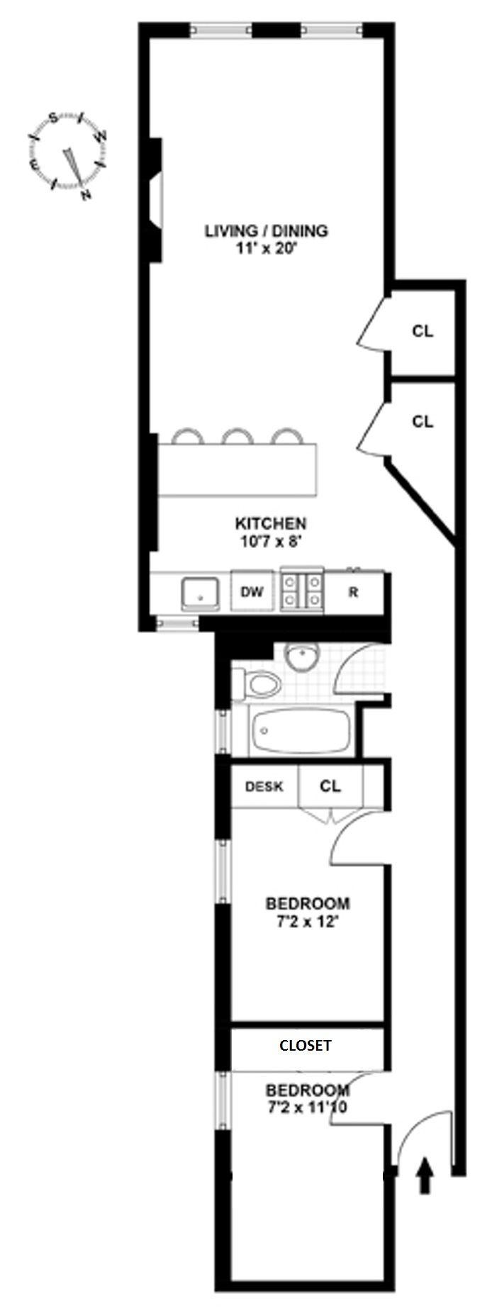 223 West 21st Street, Greenwich Village/Chelsea, NYC, $4,600, Web #: 15013386