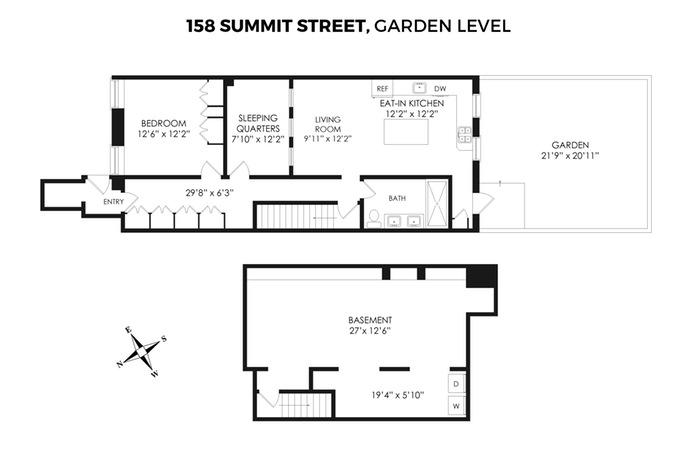 158 Summit St Garden, Brooklyn, New York, $4,000, Web #: 15215972
