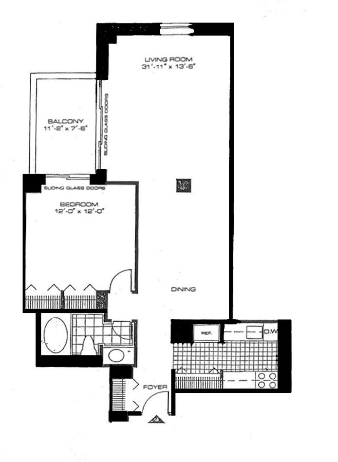 43 West 61st Street, Upper West Side, NYC, $3,500, Web #: 15229076