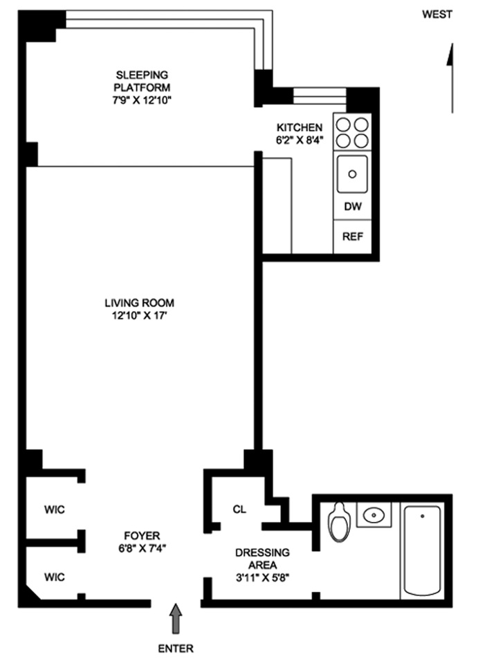 7 Lexington Avenue, Flatiron/Gramercy Park, NYC, $2,850, Web #: 15240618
