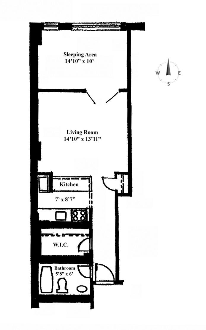 222 West 14th Street, Greenwich Village/Chelsea, NYC, $3,500, Web #: 15241098