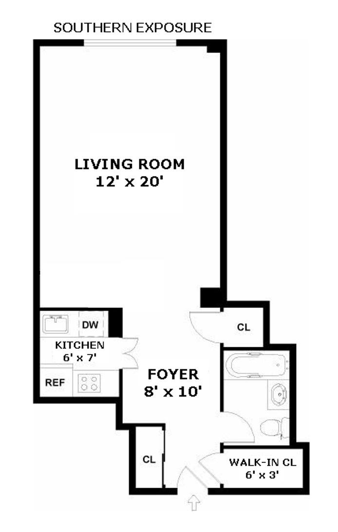 435 East 77th Street 2D, Upper East Side, NYC, $410,000, Web #: 15246963