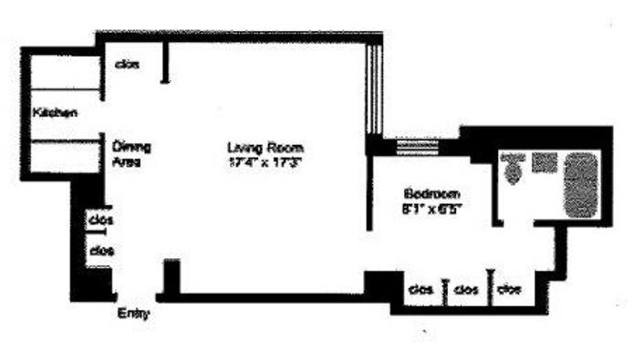 159 West 53rd Street, Midtown West, NYC, $3,200, Web #: 15290198