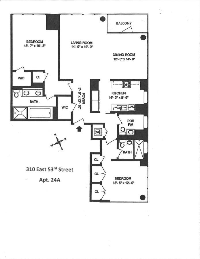 310 East 53rd Street, Midtown East, NYC, $3,150,000, Web #: 15311983
