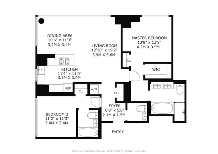 460 West 42nd Street 57K, Midtown West, NYC, $3,560,000, Web #: 15330164