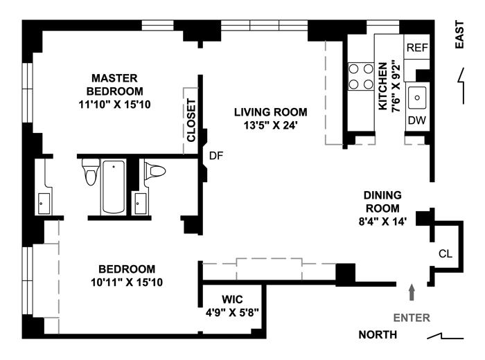 60 Gramercy Park, Flatiron/Gramercy Park, NYC, $1,275,000, Web #: 1533173