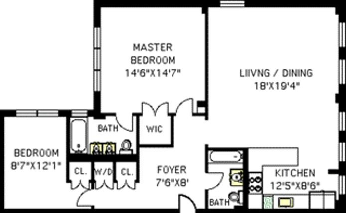 500 West End Avenue, Upper West Side, NYC, $6,400, Web #: 15362885