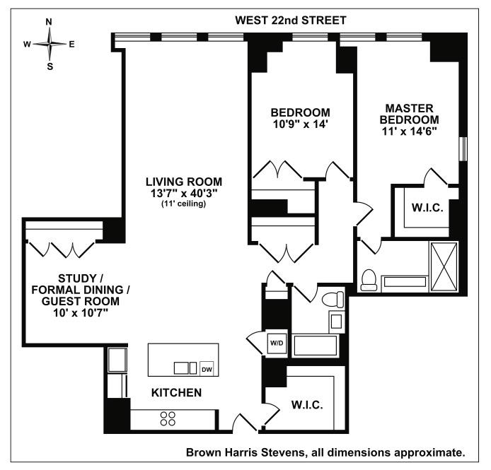 140 West 22nd Street, Greenwich Village/Chelsea, NYC, $2,835,000, Web #: 15389301