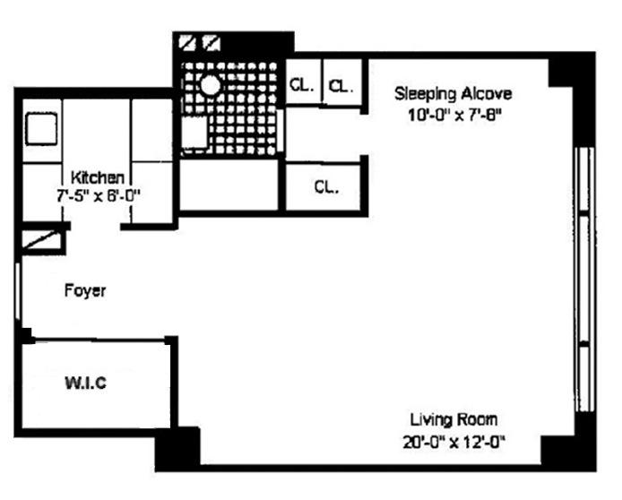 167 East 67th Street 12D, Upper East Side, NYC, $520,000, Web #: 15402727