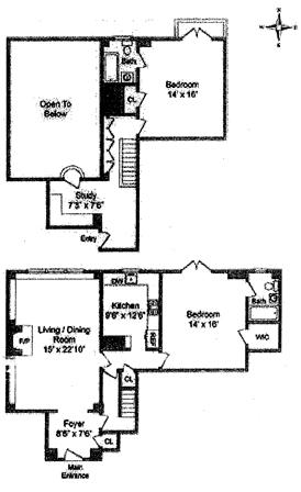35 East 9th Street, East Village, NYC, $1,600,000, Web #: 1541965
