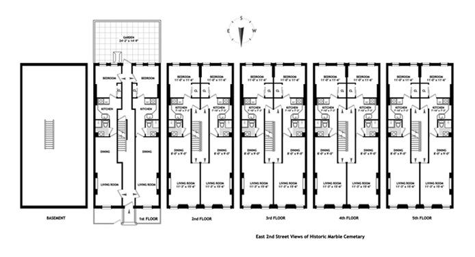 75 East 2nd Street 6, East Village, NYC, $2,995, Web #: 15461115