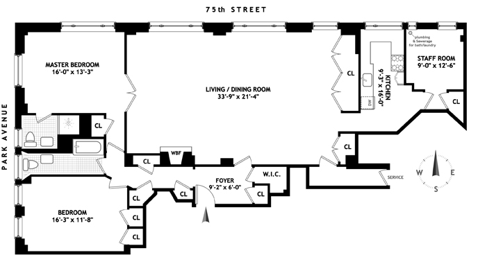 815 Park Avenue, Upper East Side, NYC, $2,300,000, Web #: 1547162