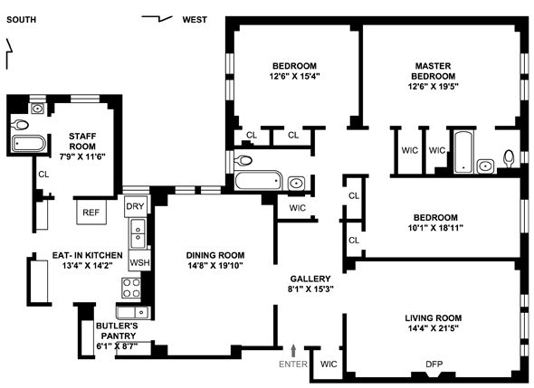 270 West End Avenue, Upper West Side, NYC, $2,402,560, Web #: 1549014