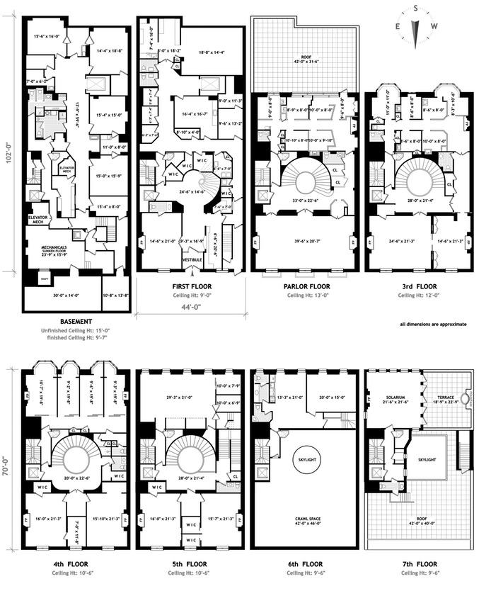 new york townhouse floor plans.  50 E 69th St Photo 12 TERRAHOLDINGS 15500716 Upper East Side Lenox Hill New York NY 10021