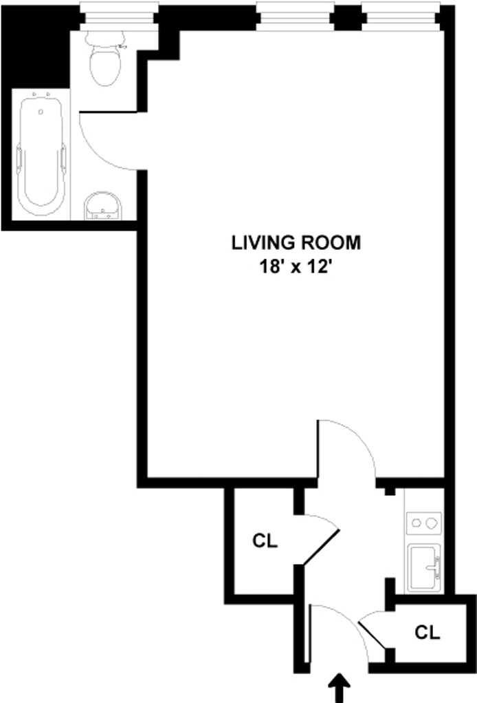 310 Riverside Drive 1502, Upper West Side, NYC, $1,700, Web #: 15501746