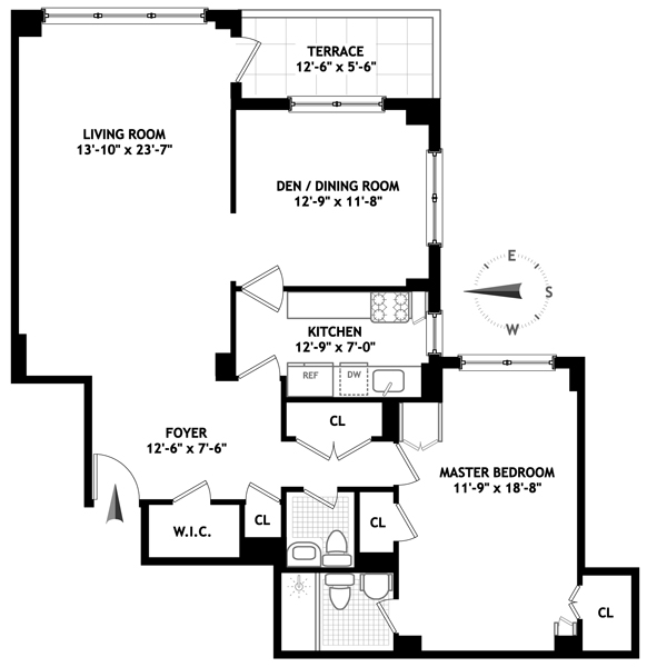 50 Sutton Place South, Midtown East, NYC, $799,000, Web #: 1552881