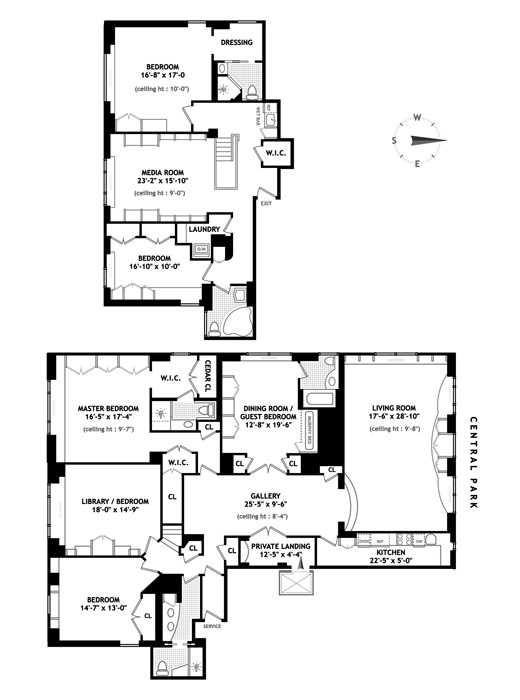 150 Central Park South, Midtown West, NYC, $9,000,000, Web #: 1558887