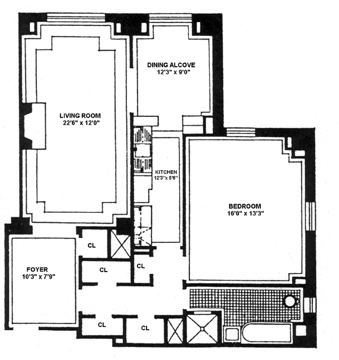 25 Central Park West, Upper West Side, NYC, $1,175,000, Web #: 1559196
