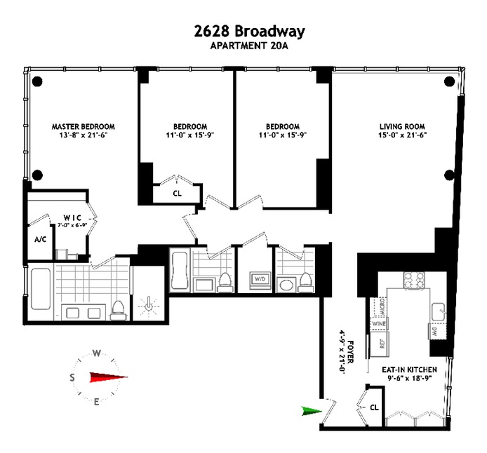 2628 Broadway 20A, Upper West Side, NYC, $9,999, Web #: 15597132