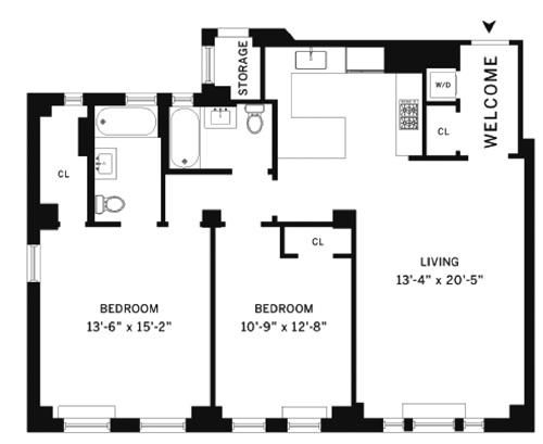 610 West 110th Street 10E, Upper West Side, NYC, $1,320,000, Web #: 1560371
