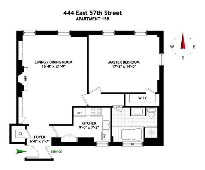 444 East 57th Street, Midtown East, NYC, $1,325,000, Web #: 15632737
