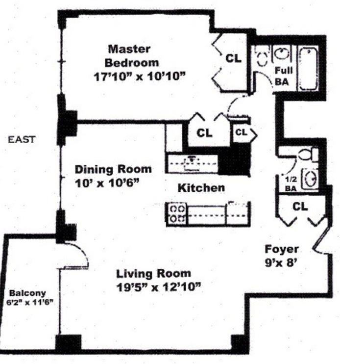 132 East 35th Street 9E, Murray Hill/Kips Bay, NYC, $4,250, Web #: 15722435