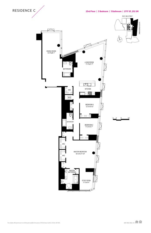 400 Park Avenue South 23C, Murray Hill/Kips Bay, NYC, $4,900,000, Web #: 15751689