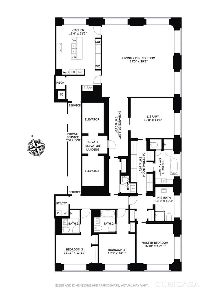 432 Park Avenue 71A, Midtown East, NYC, $33,750,000, Web #: 15787220
