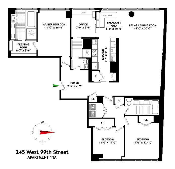 245 West 99th Street, Upper West Side, NYC, $3,595,000, Web #: 15898483