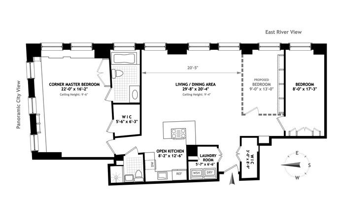 55 Liberty Street 28A, Financial District, NYC, $1,610,000, Web #: 15914116
