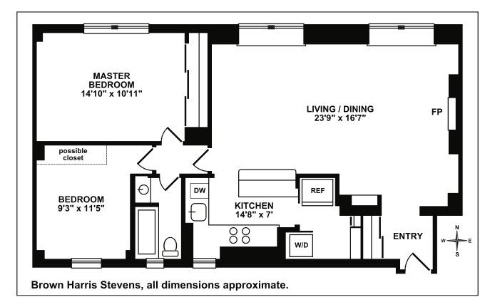 119 West 71st Street, Upper West Side, NYC, $1,325,000, Web #: 15919014