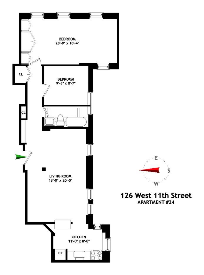 126 West 11th Street, Greenwich Village/Chelsea, NYC, $1,410,000, Web #: 15939593