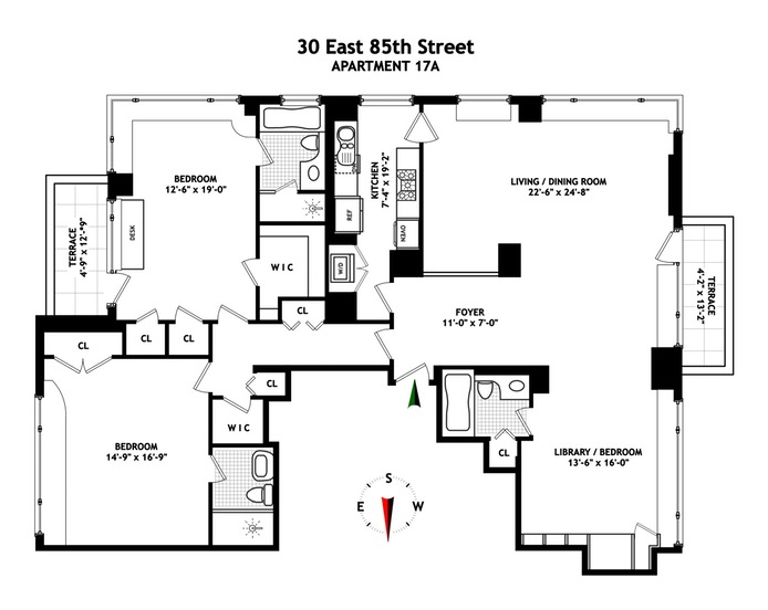 30 East 85th Street, Upper East Side, NYC, $5,550,000, Web #: 15982684