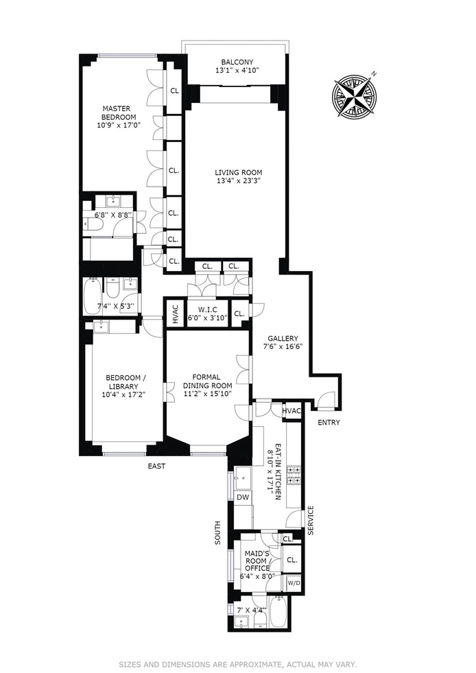 860 Fifth Avenue 9H, Upper East Side, NYC, $2,995,000, Web #: 16019921